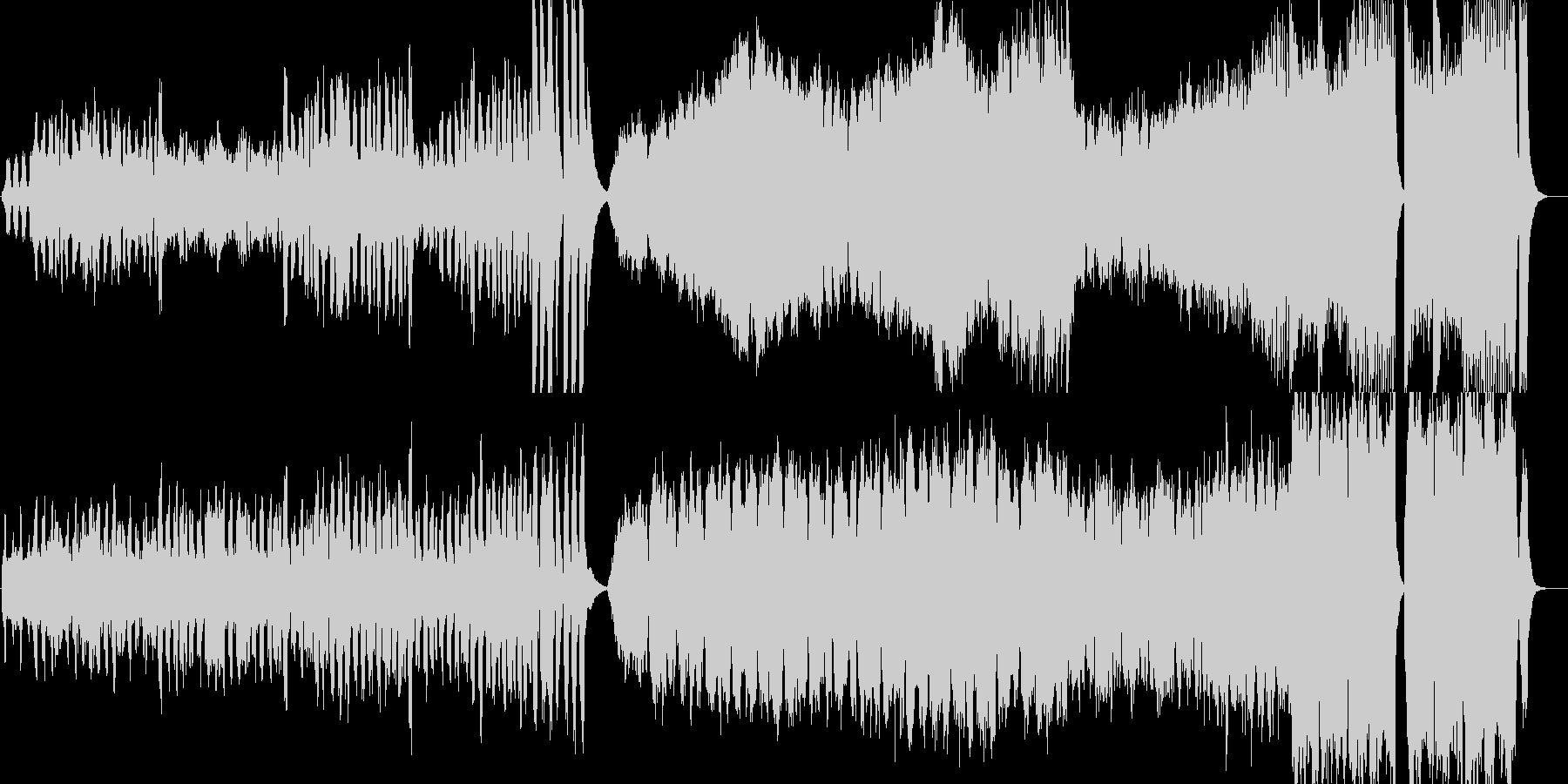 クラシカルで軽快なゲーム音楽の未再生の波形