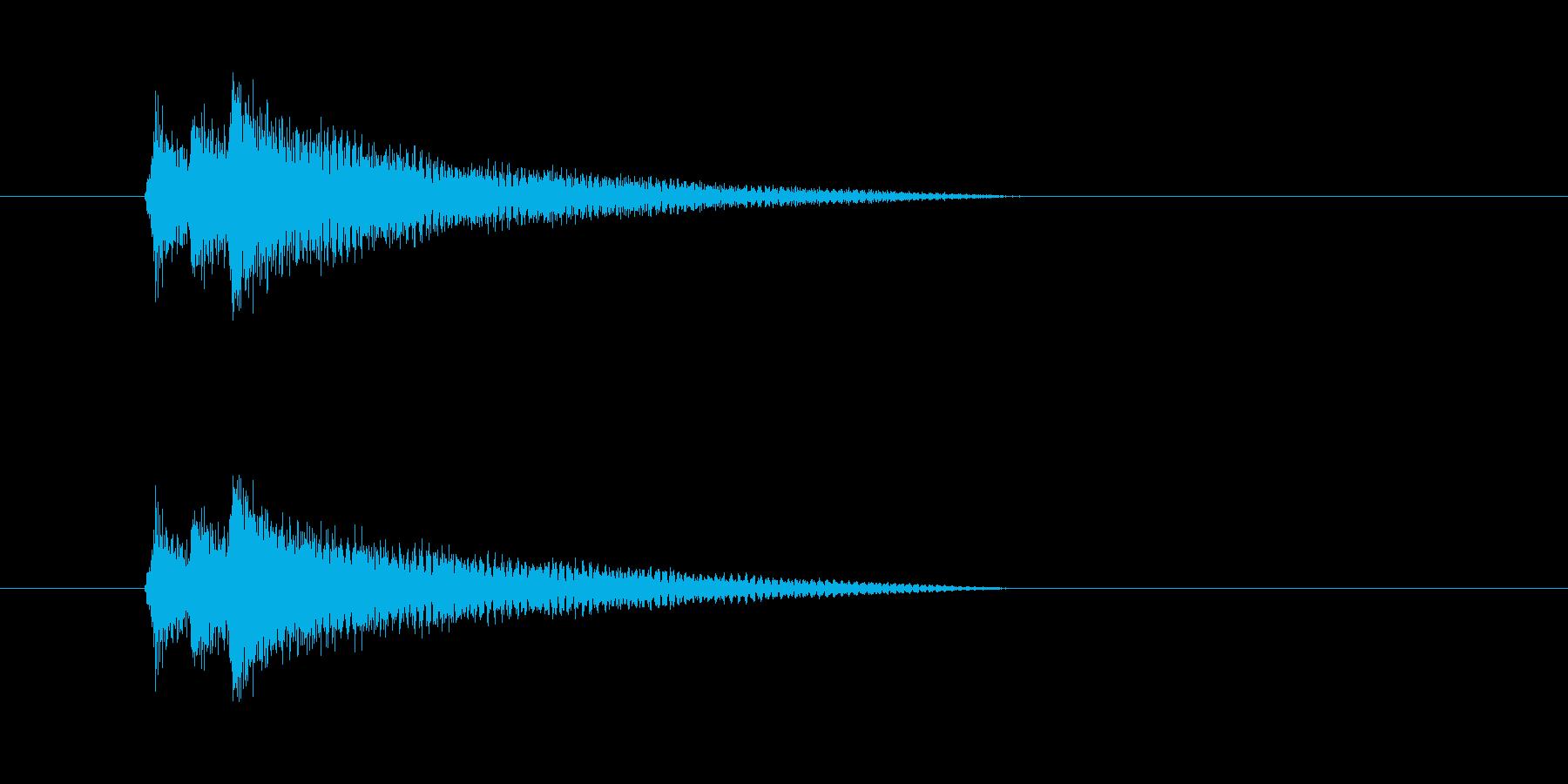 不安感なコード。心理描写のギターの再生済みの波形