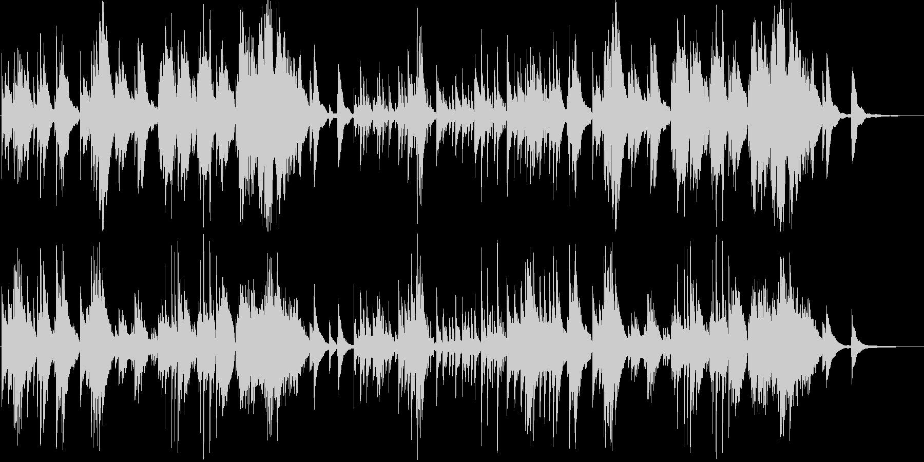 シンプルで神秘的な優しいピアノ小曲の未再生の波形