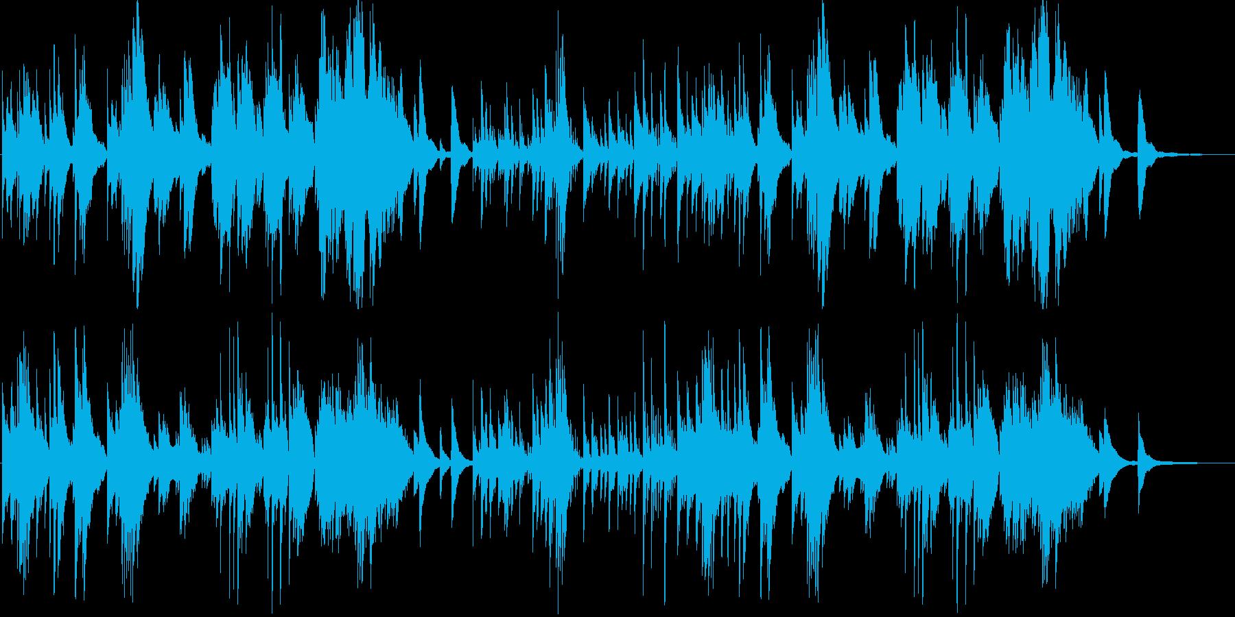 シンプルで神秘的な優しいピアノ小曲の再生済みの波形