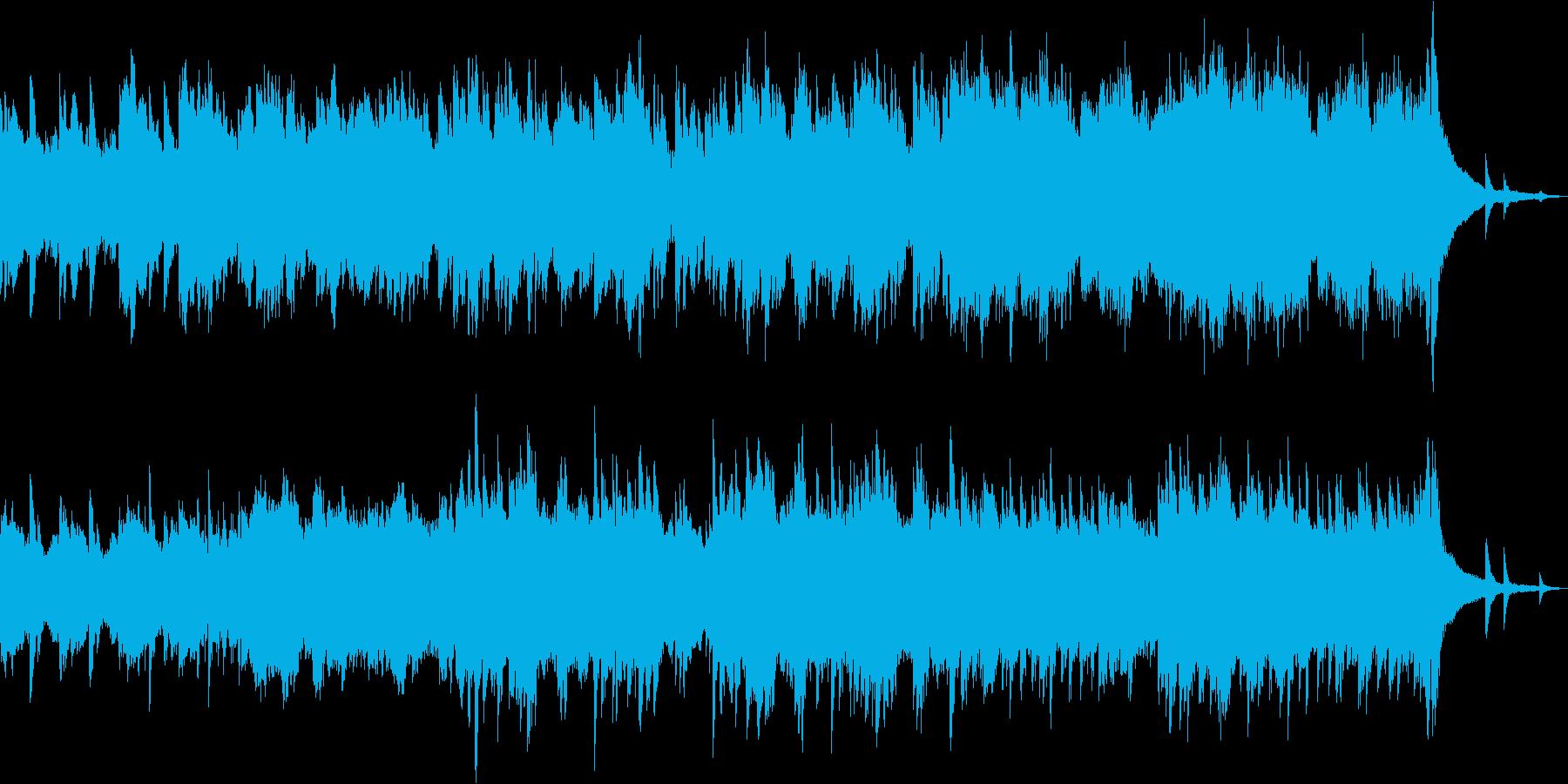 春をイメージしたさわやかなピアノの再生済みの波形