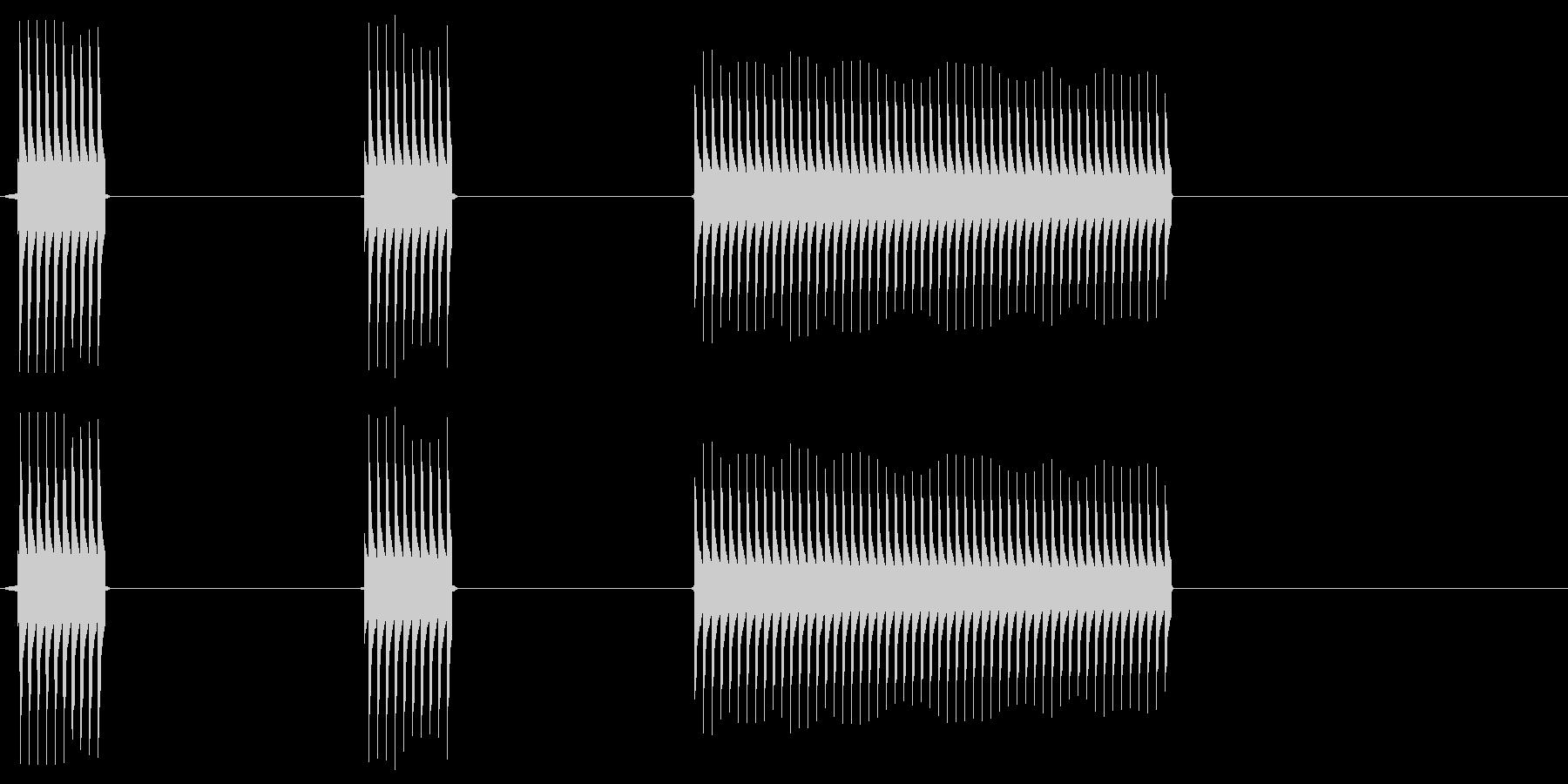 【SE】不正解03(ブッブッブー)の未再生の波形