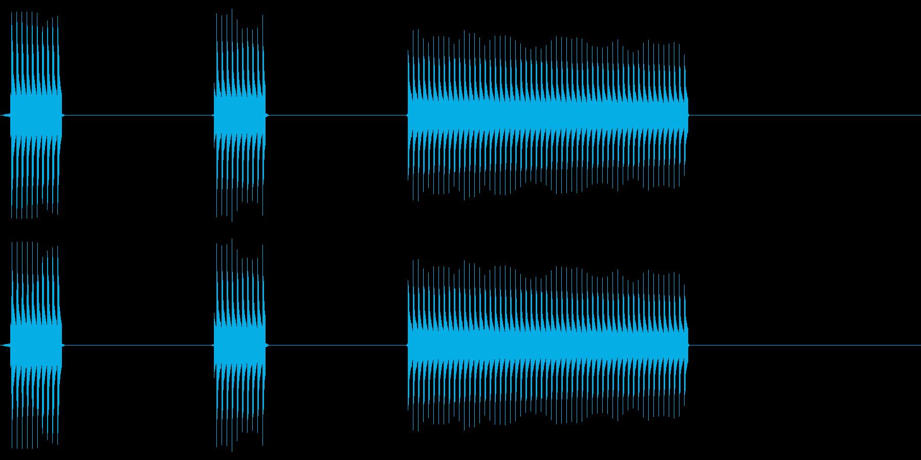【SE】不正解03(ブッブッブー)の再生済みの波形
