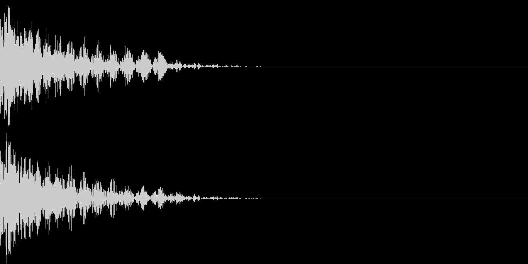 撃墜 インベーダーゲーム ダメージ音の未再生の波形