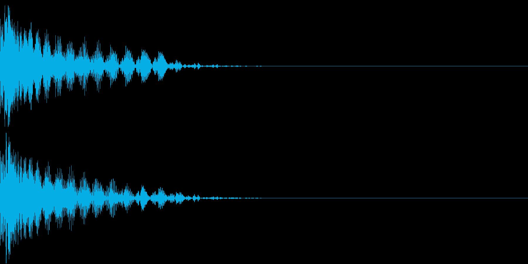 撃墜 インベーダーゲーム ダメージ音の再生済みの波形