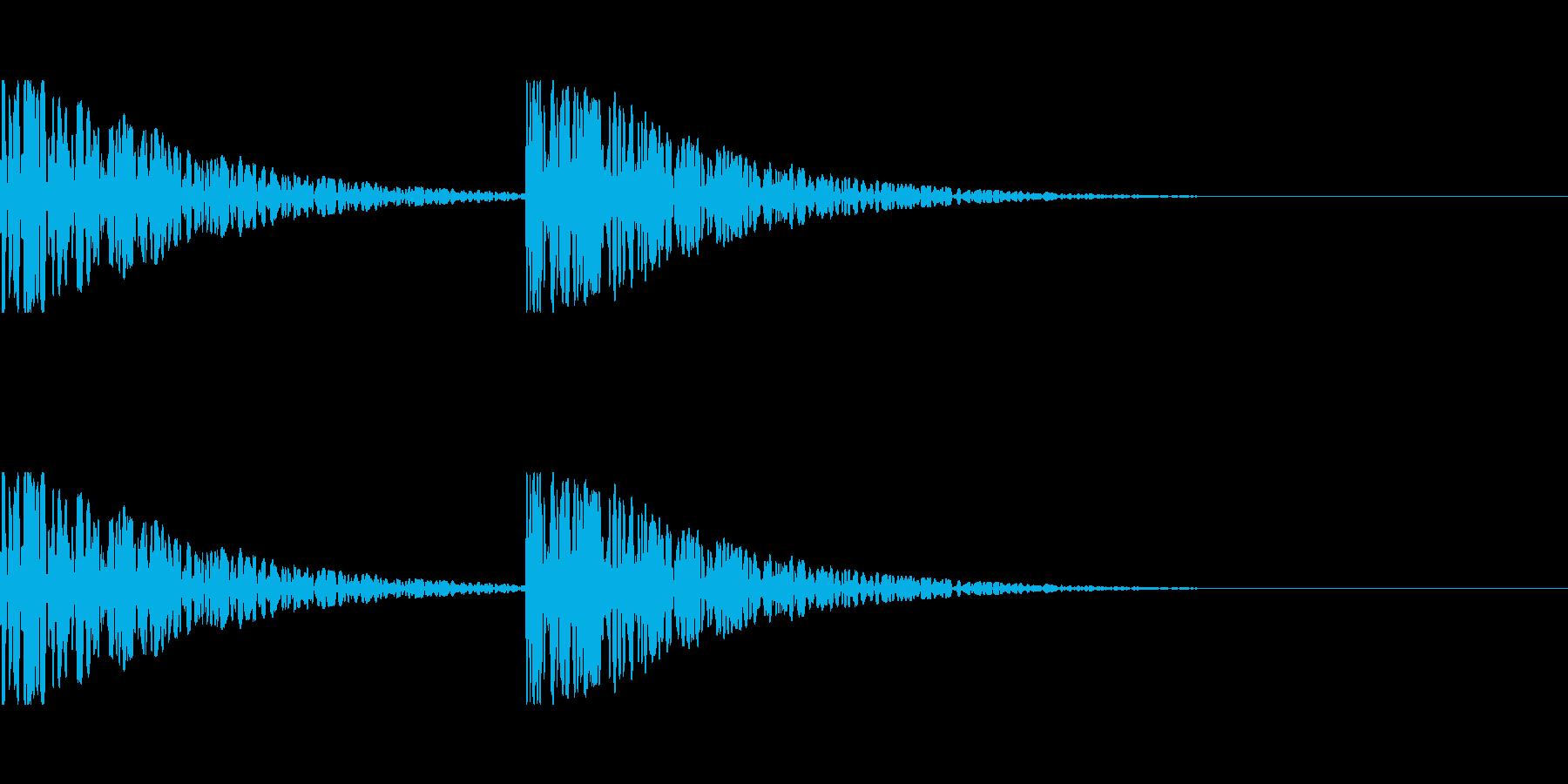遠くで鳴る巨大な足音の再生済みの波形