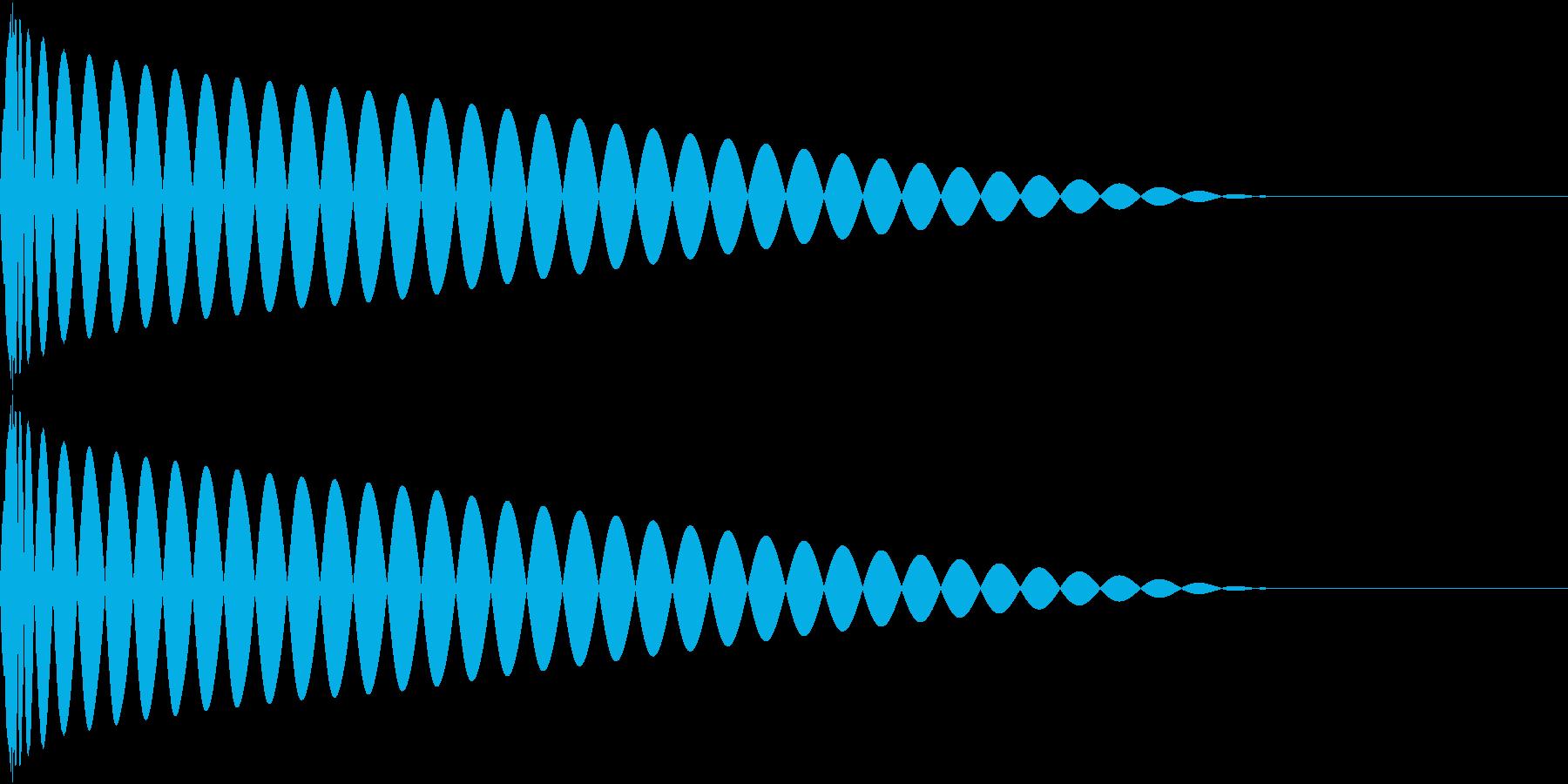 DTM Kick 80 オリジナル音源の再生済みの波形