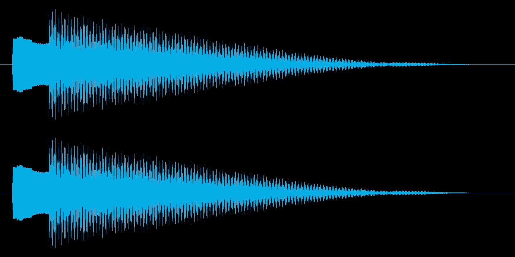 チリーン ピキーン 選択 決定 セレクトの再生済みの波形