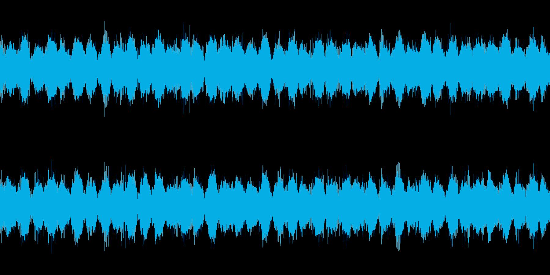 不気味なアンビエント系のBGMの再生済みの波形