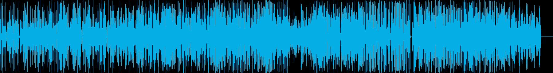 おしゃれでクールなイメージのポップな曲の再生済みの波形