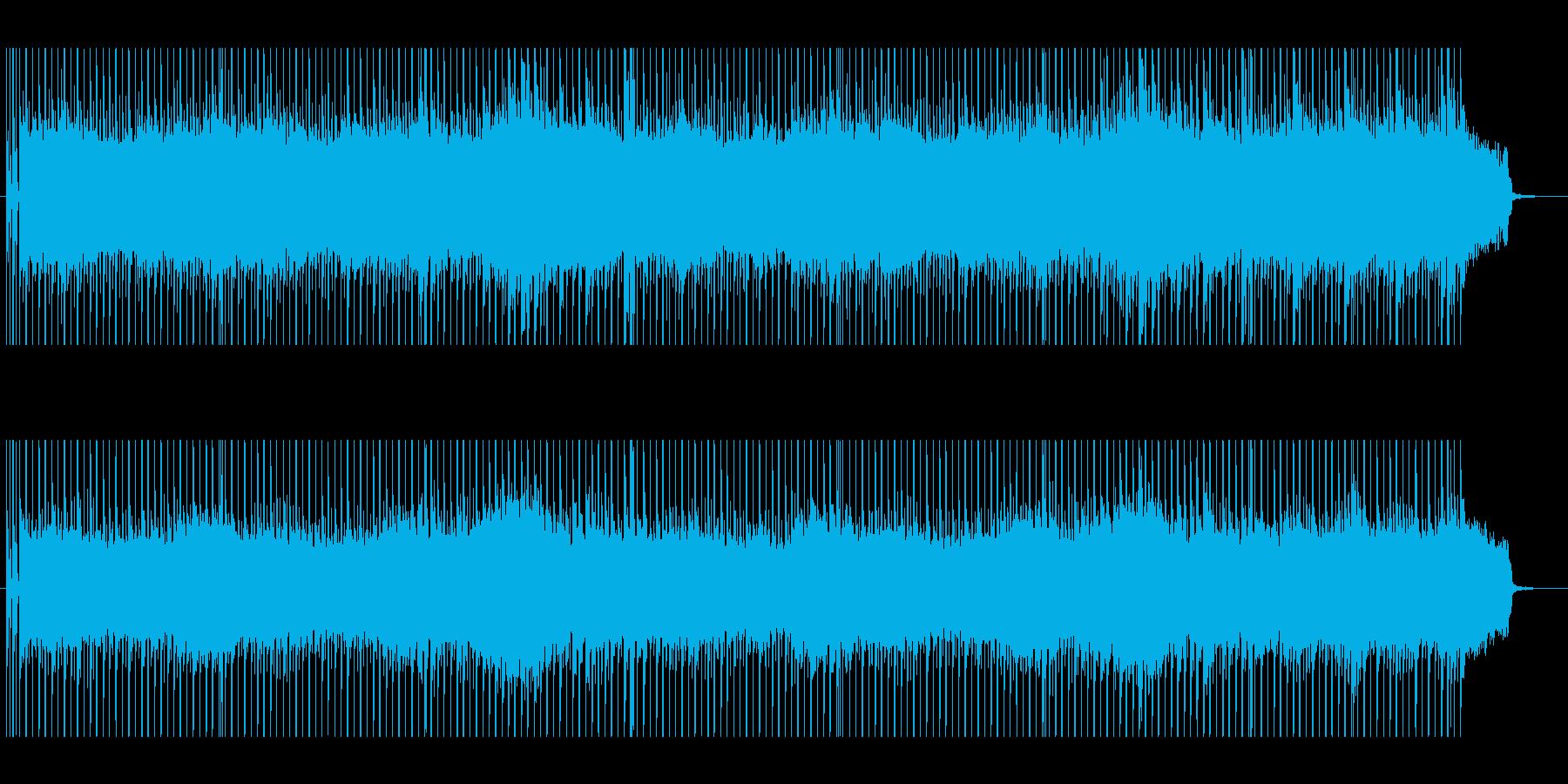 女性コーラスの入ったバンド曲の再生済みの波形