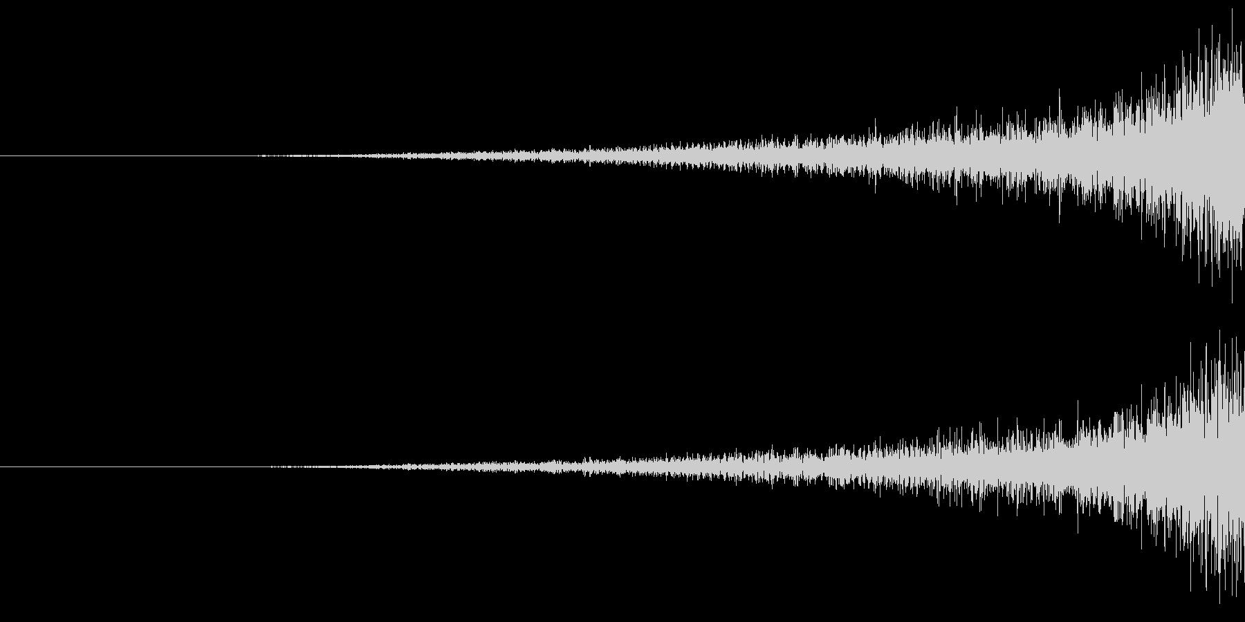 不穏なフェード音の未再生の波形