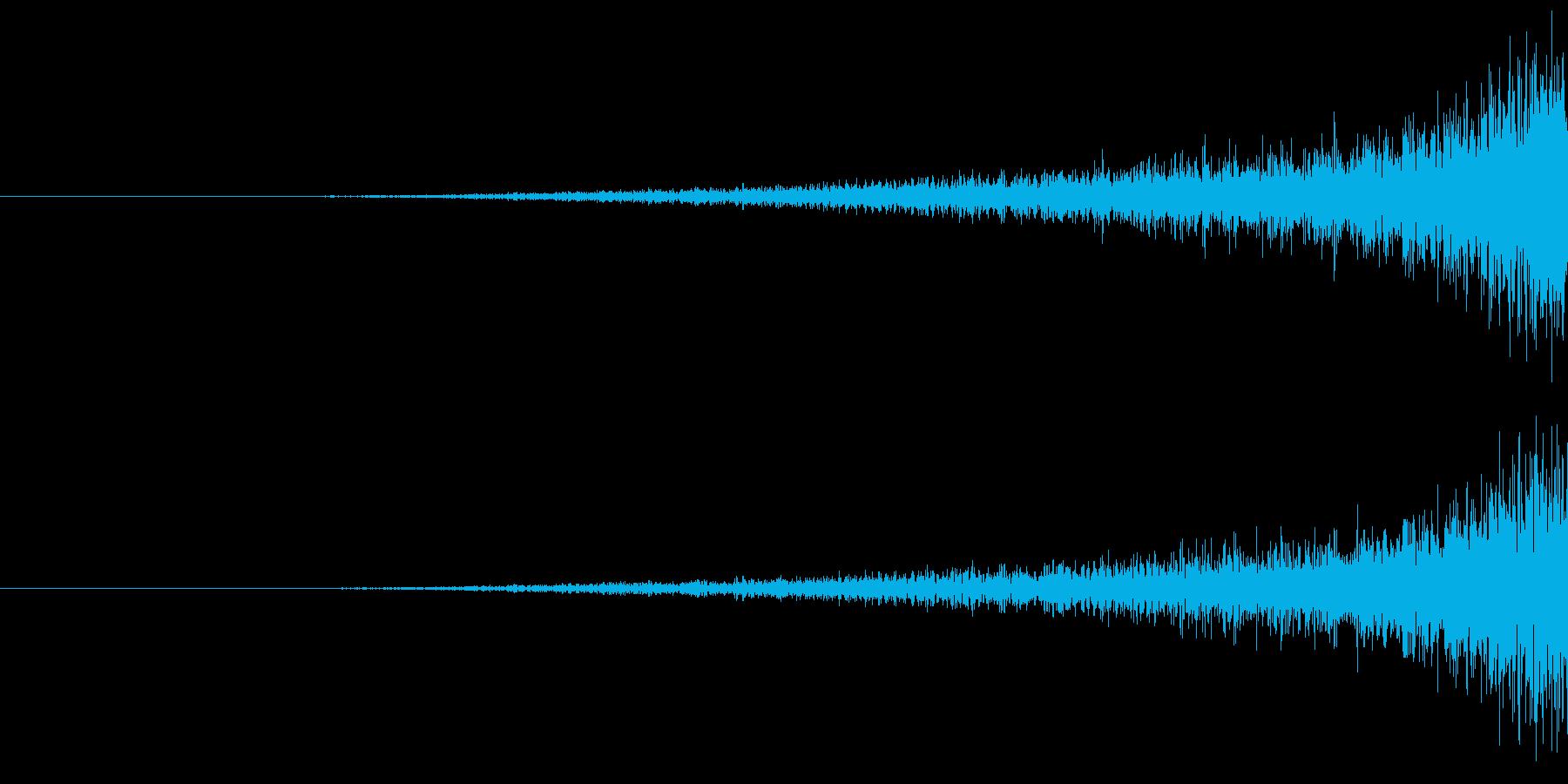 不穏なフェード音の再生済みの波形