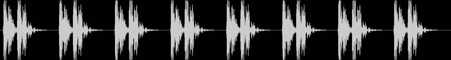バクバク(心臓、鼓動、心電図)の未再生の波形