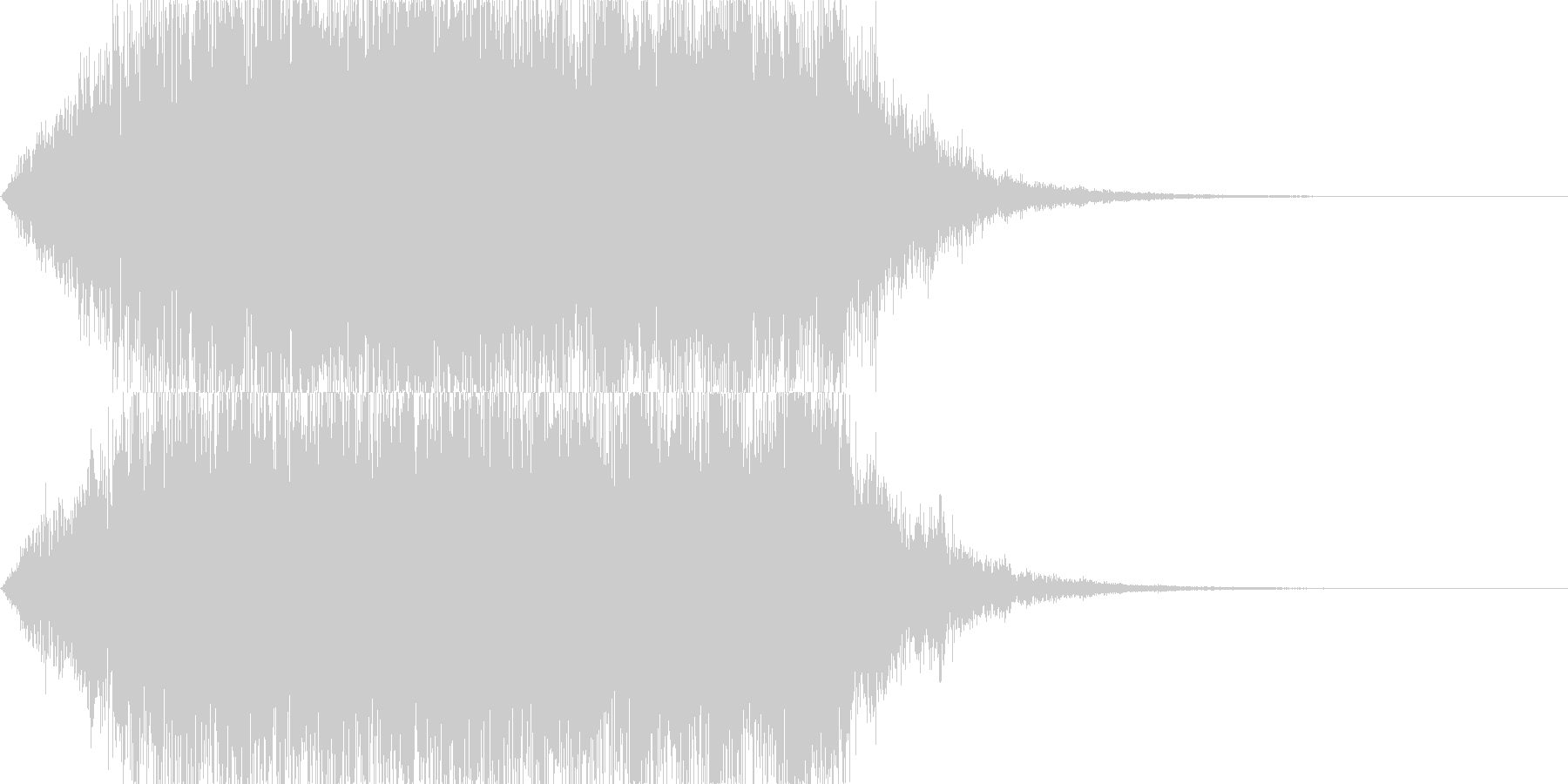 幻想的で伸びのある音(サウンドロゴ等に)の未再生の波形