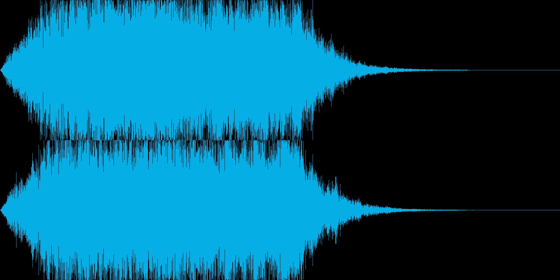 幻想的で伸びのある音(サウンドロゴ等に)の再生済みの波形
