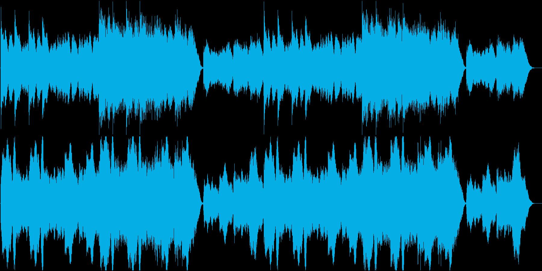 シリアスな廃城の曲の再生済みの波形