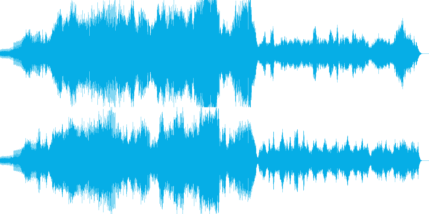 EDM   少しドローンなクラブミュー…の再生済みの波形
