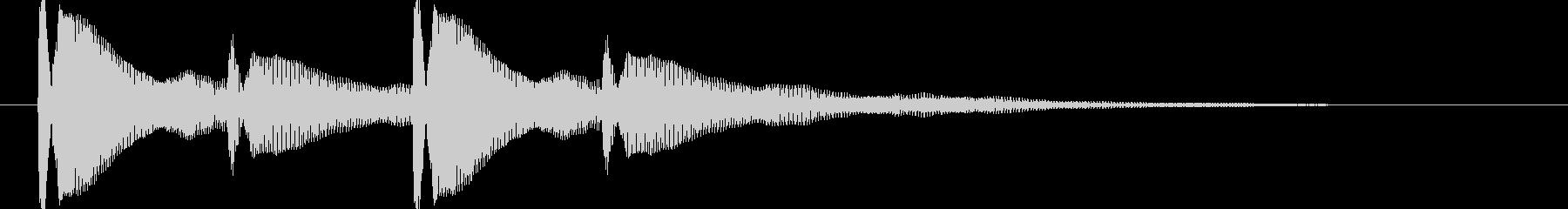 ピンポンピンポン【耳当たりのいい正解音】の未再生の波形