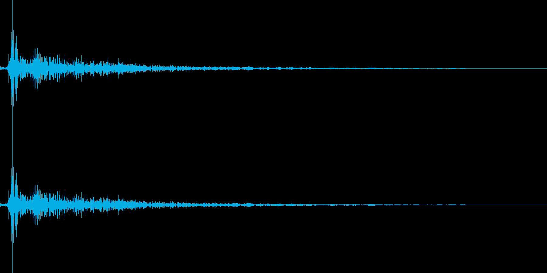 将棋の駒を指す 効果音 02の再生済みの波形