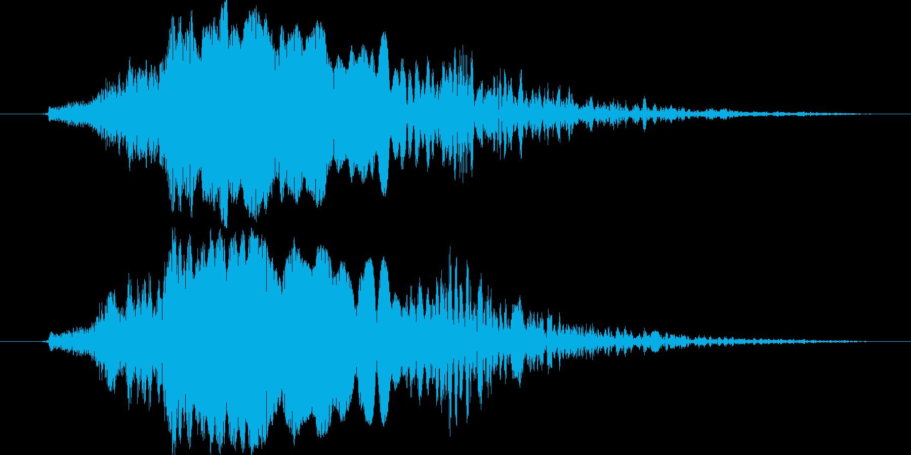 ワシの鳴き声の再生済みの波形