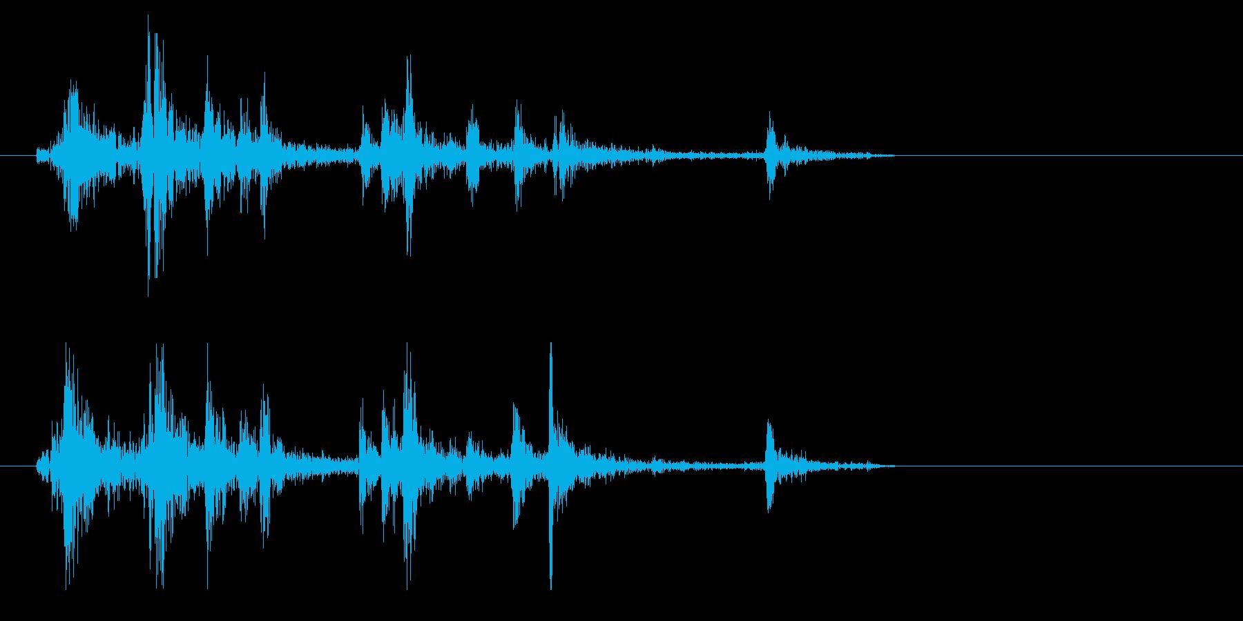 シャッター音(短くカシャリとした音)の再生済みの波形