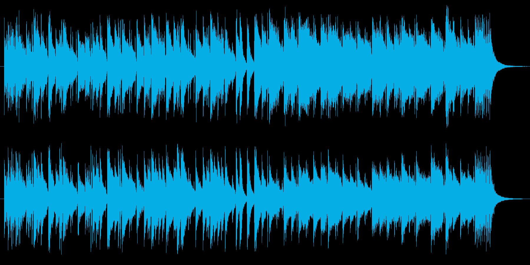 アコースティックギターのゆったりとした…の再生済みの波形