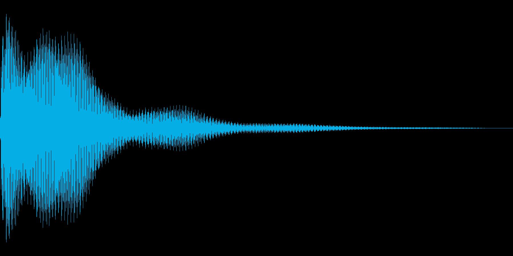 汎用的なUI音の再生済みの波形