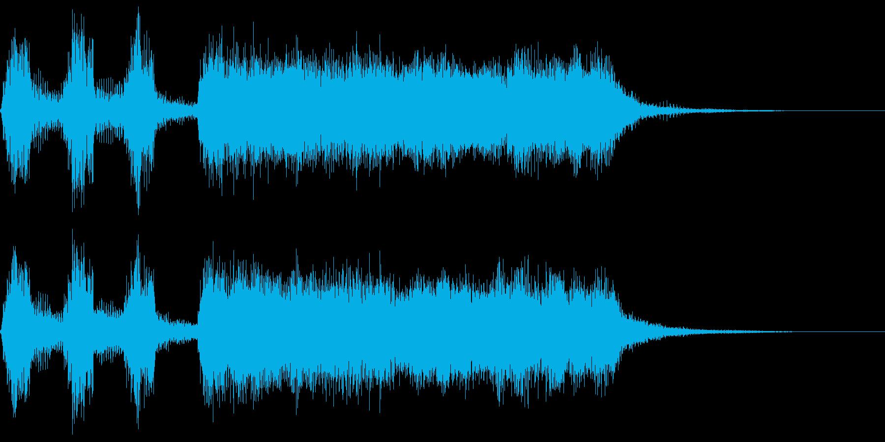 シンプルなファンファーレ5(パパパパン)の再生済みの波形