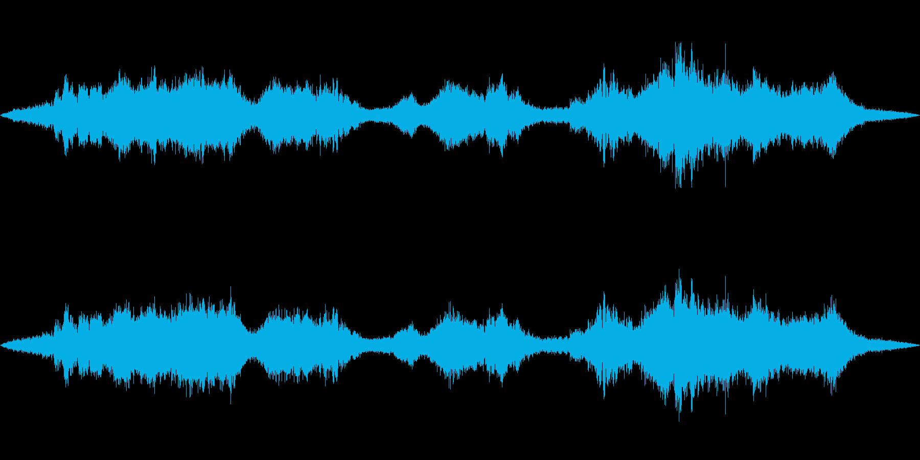 【環境音】道路の音(環状八号線)の再生済みの波形