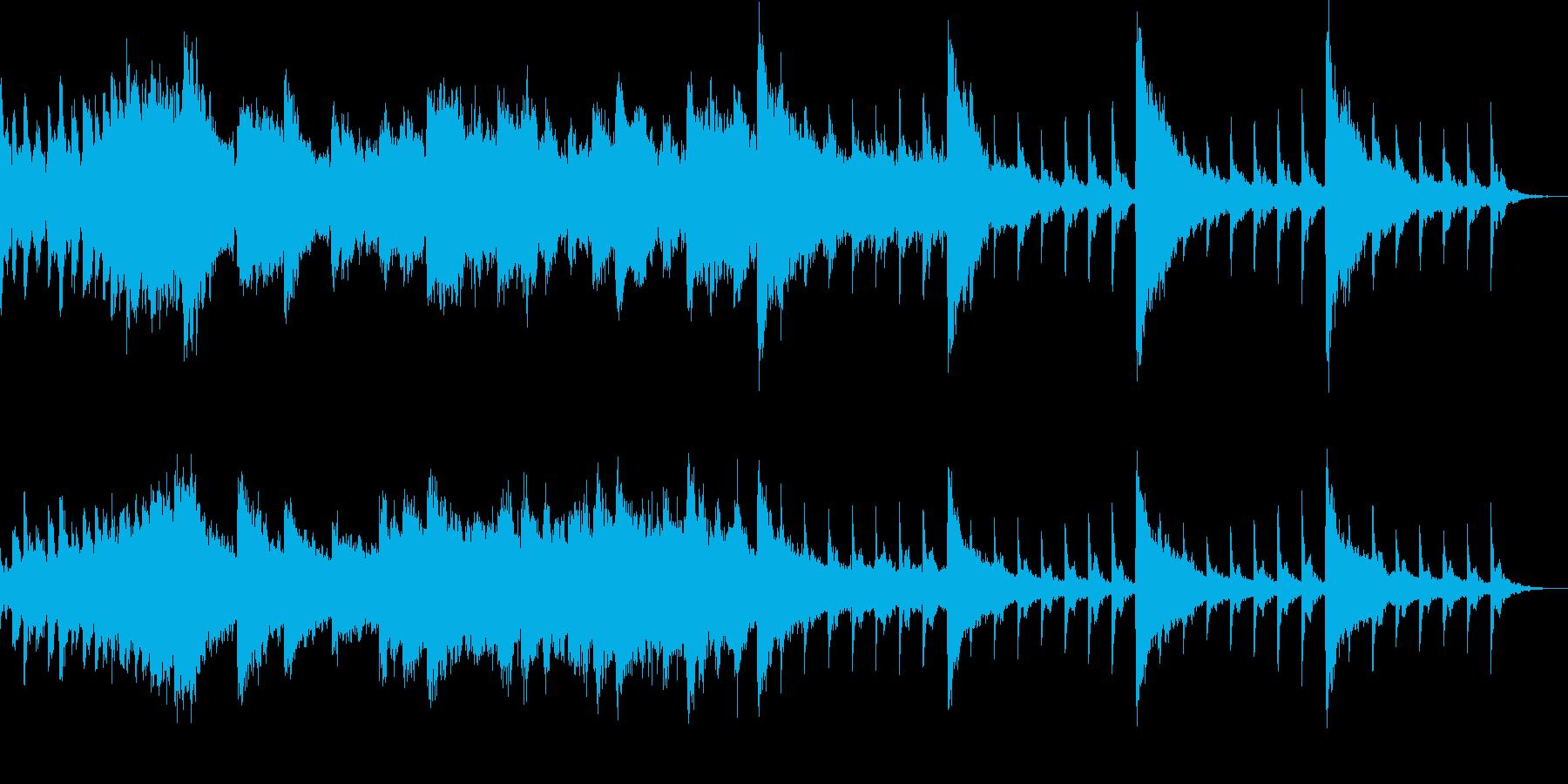 不安にかられるイメージの曲の再生済みの波形