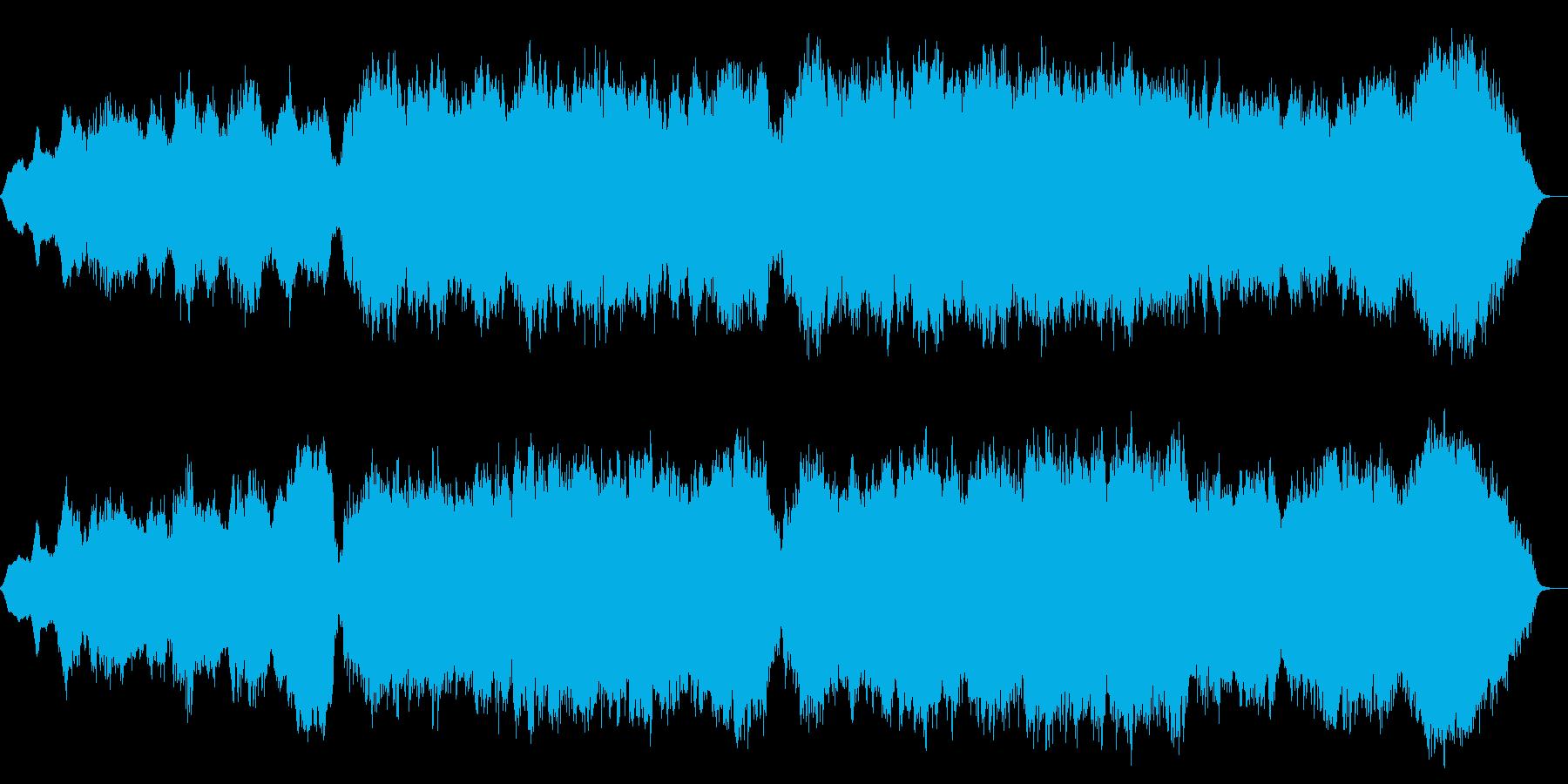 幻想的なシンセサイザークラシック音楽の再生済みの波形