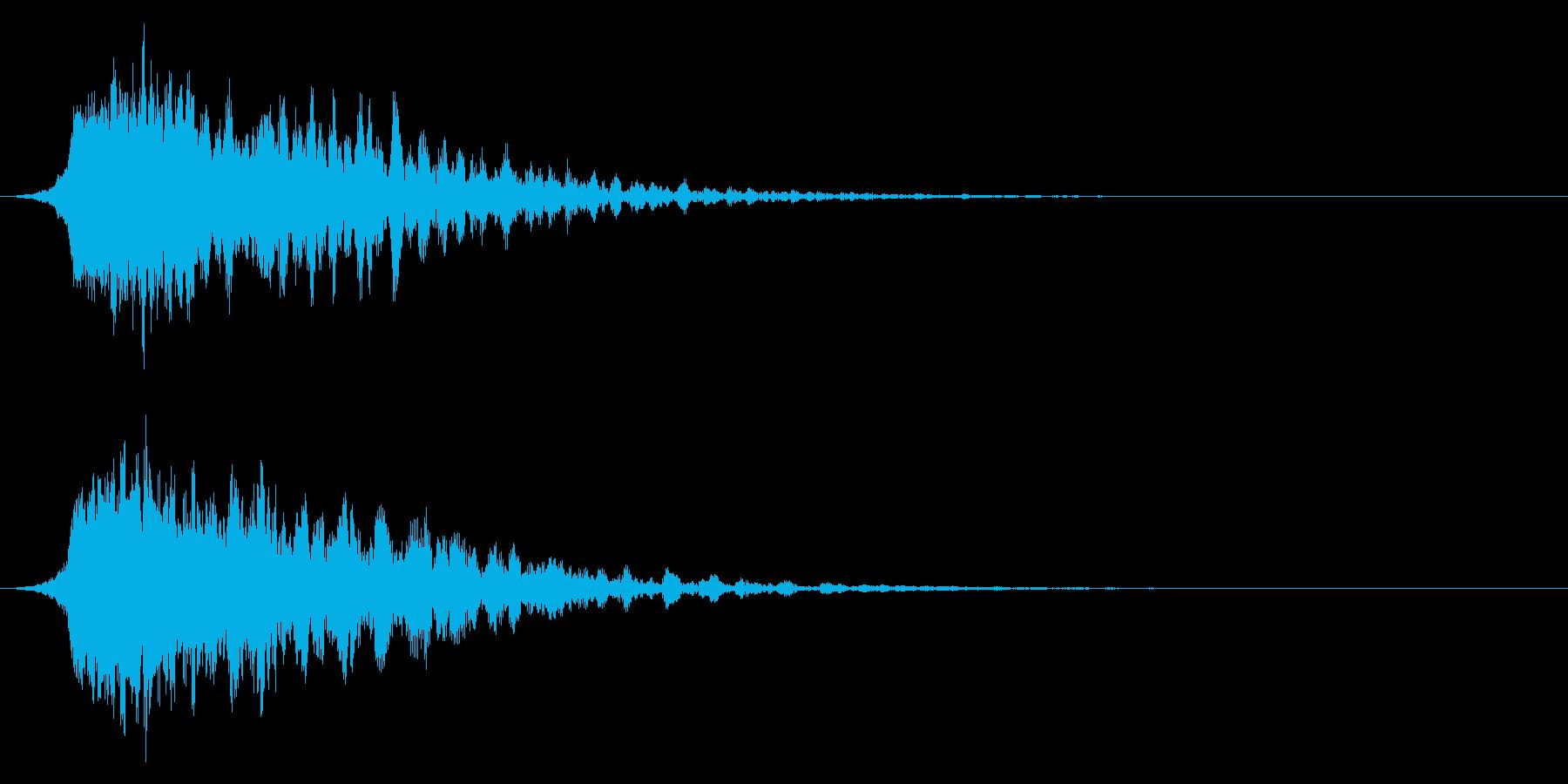 シャキーン(闇や毒などの属性魔法)3vの再生済みの波形