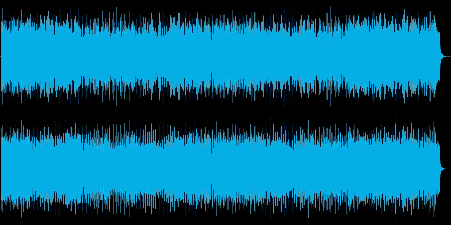 ミステリー感漂うローテンポなロックの再生済みの波形