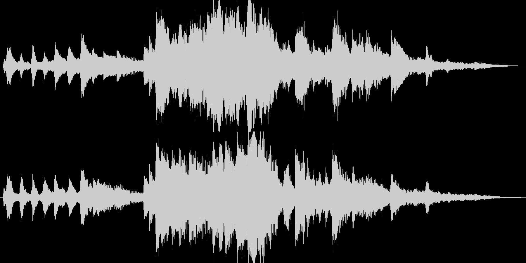 しっとりとしたピアノの18秒BGMの未再生の波形