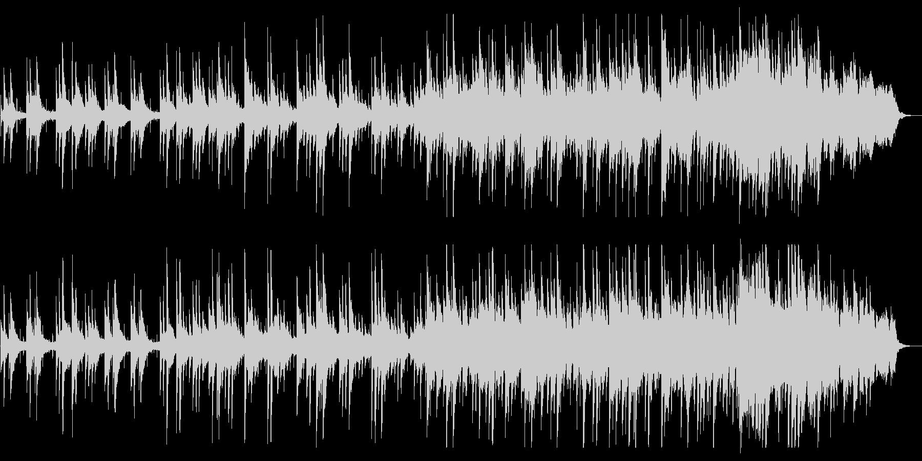 ピアノの旋律が美しいバラードの未再生の波形