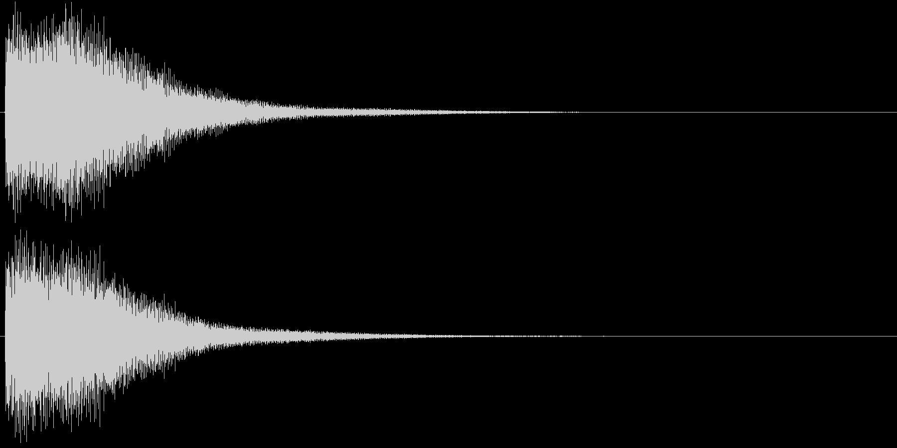 ゴーン(振り子時計の鐘、古い)の未再生の波形