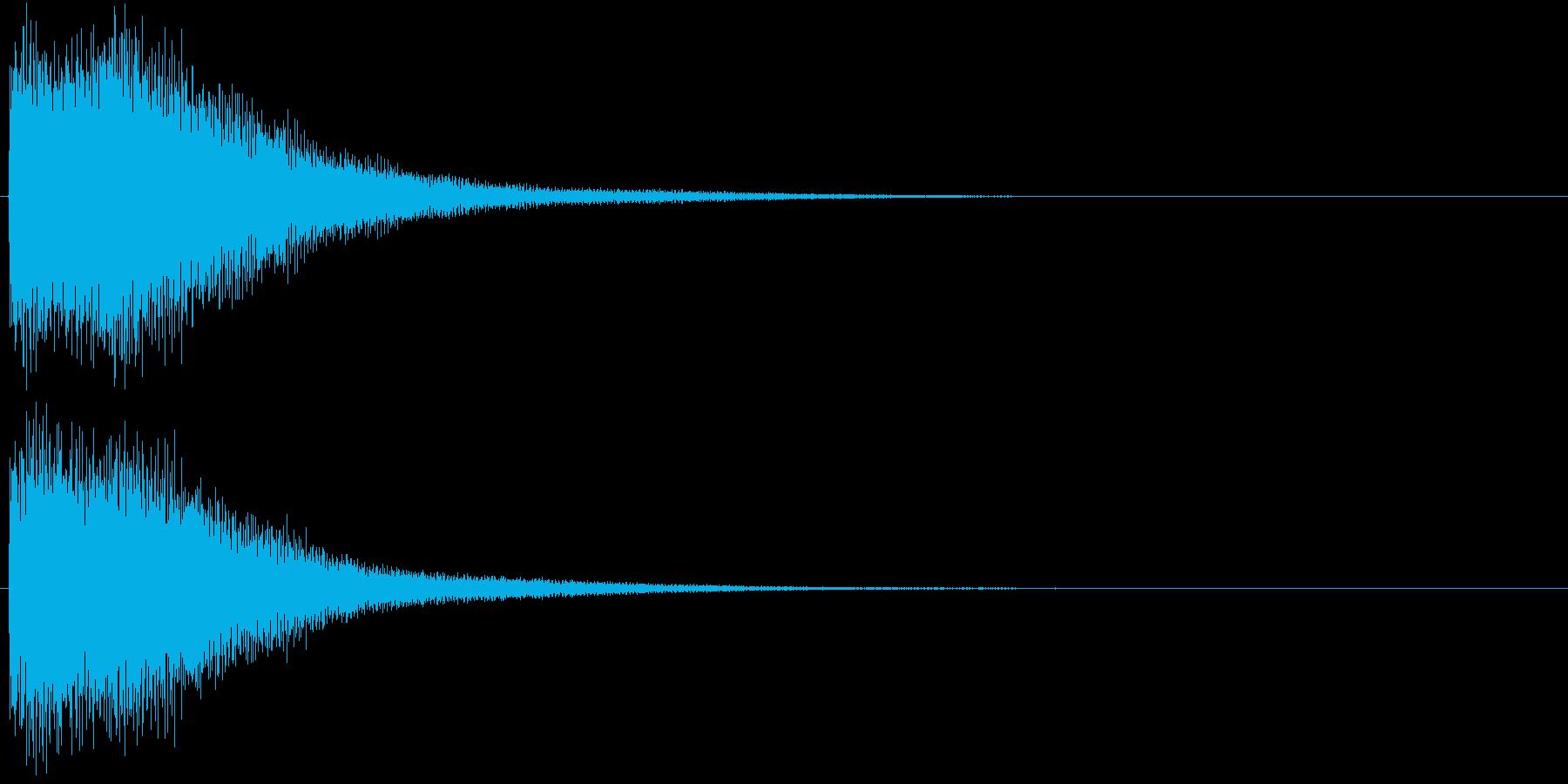 ゴーン(振り子時計の鐘、古い)の再生済みの波形
