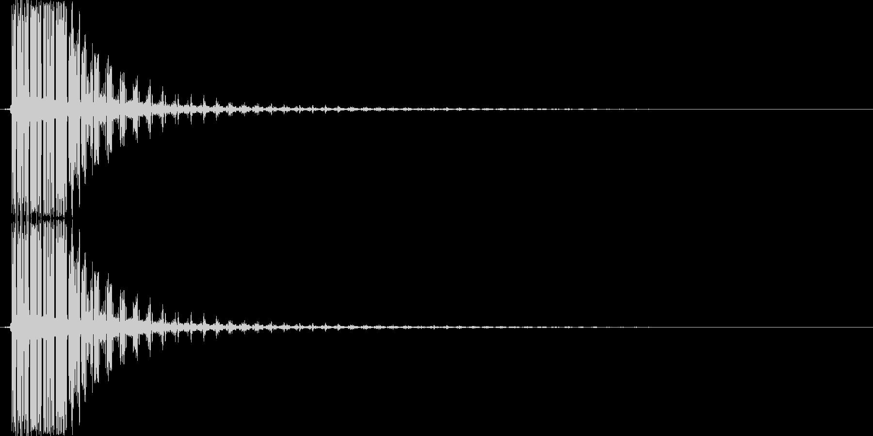 ピシューン(ショット音、シューティング)の未再生の波形