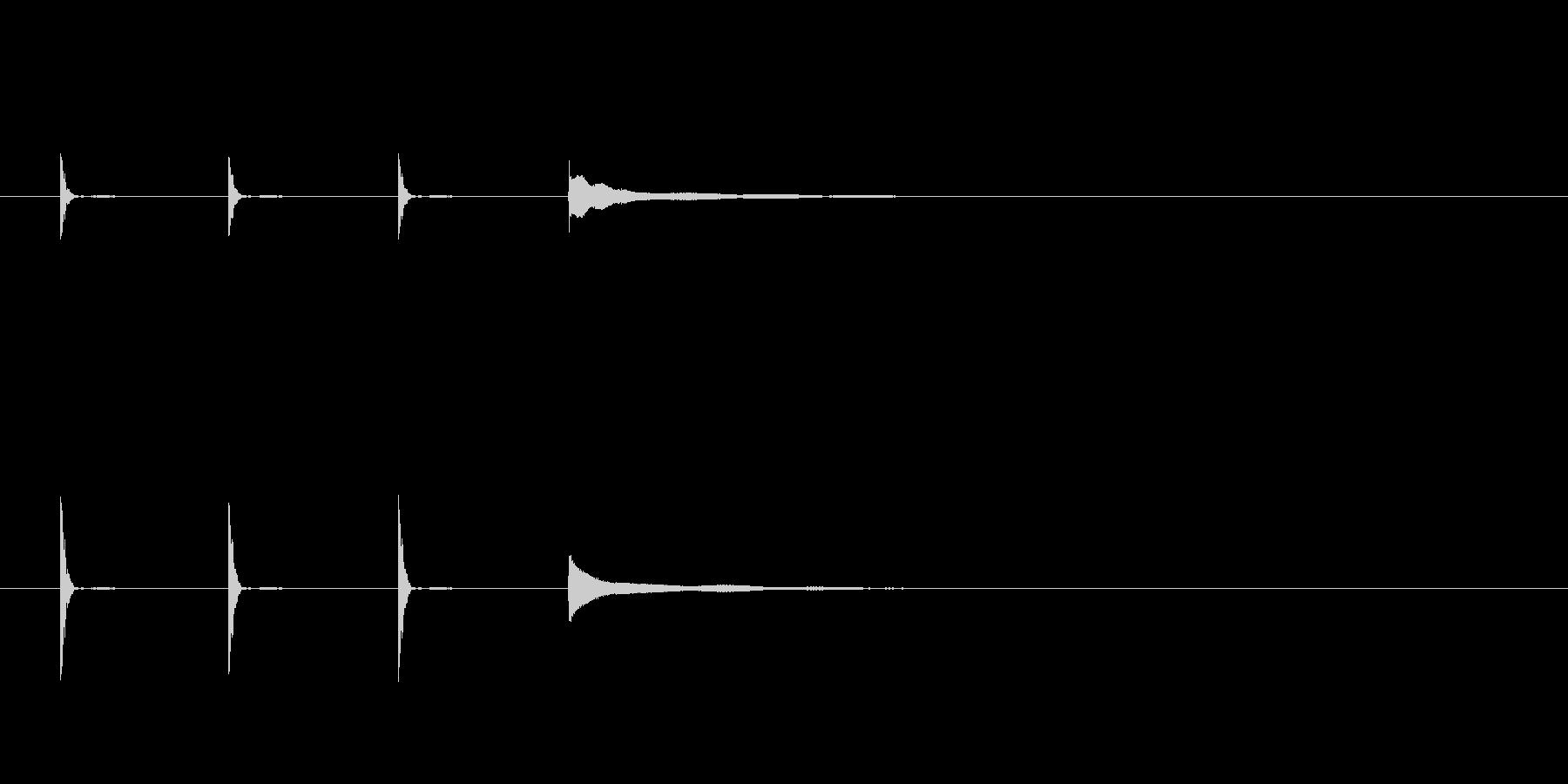 ポクポクポクチーン(短め)の未再生の波形