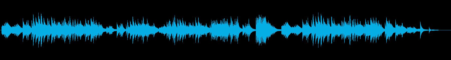 ヒーリング・イージーリスニングのピアノ曲の再生済みの波形