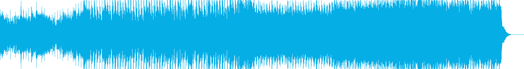 高揚感あるowlcity風の再生済みの波形