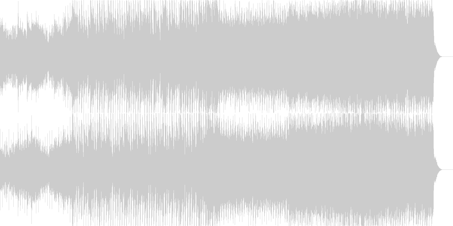 高揚感あるowlcity風の未再生の波形
