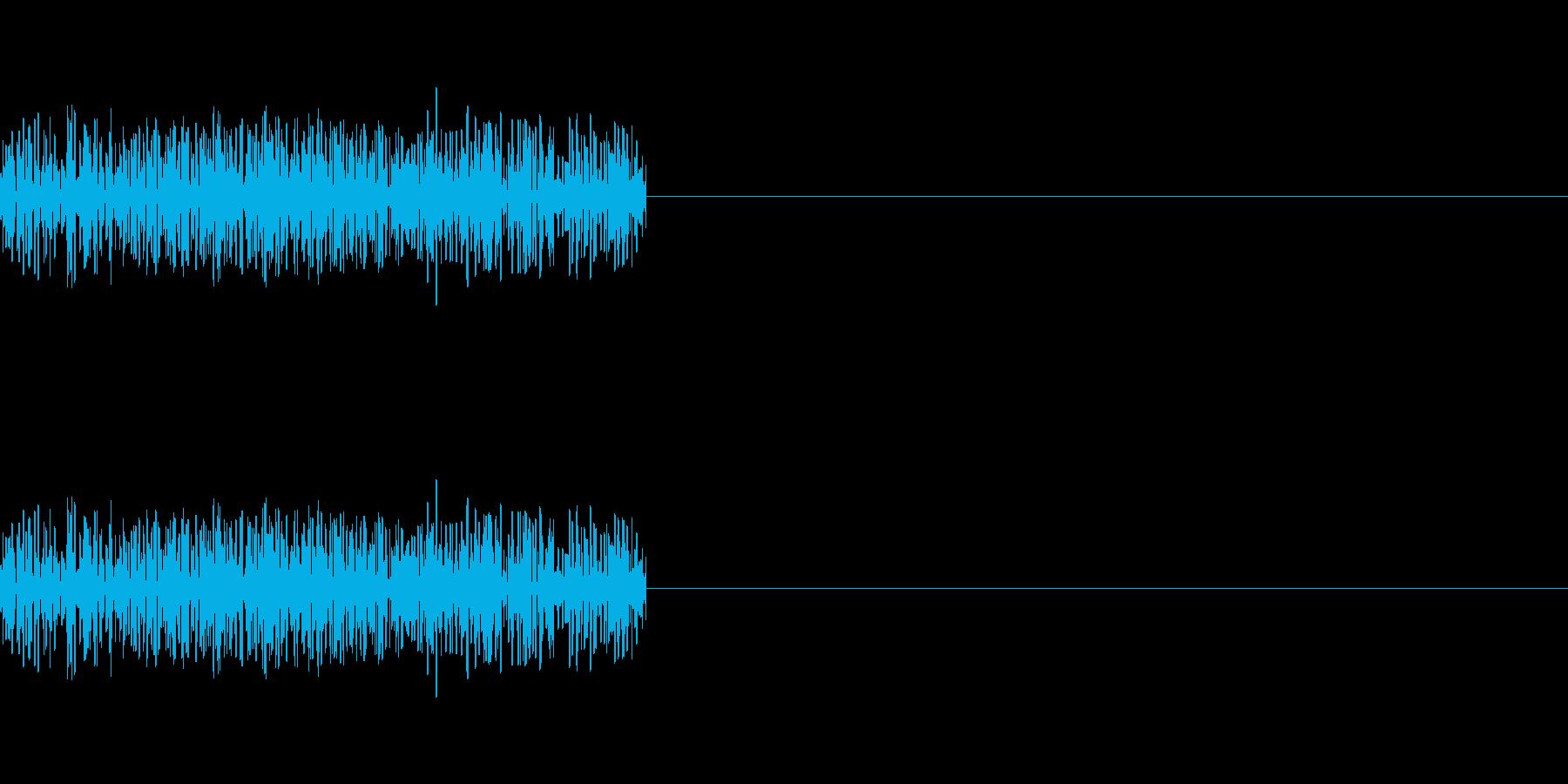 「ザッ」「ジャッ」レトロゲーム風剣の攻撃の再生済みの波形