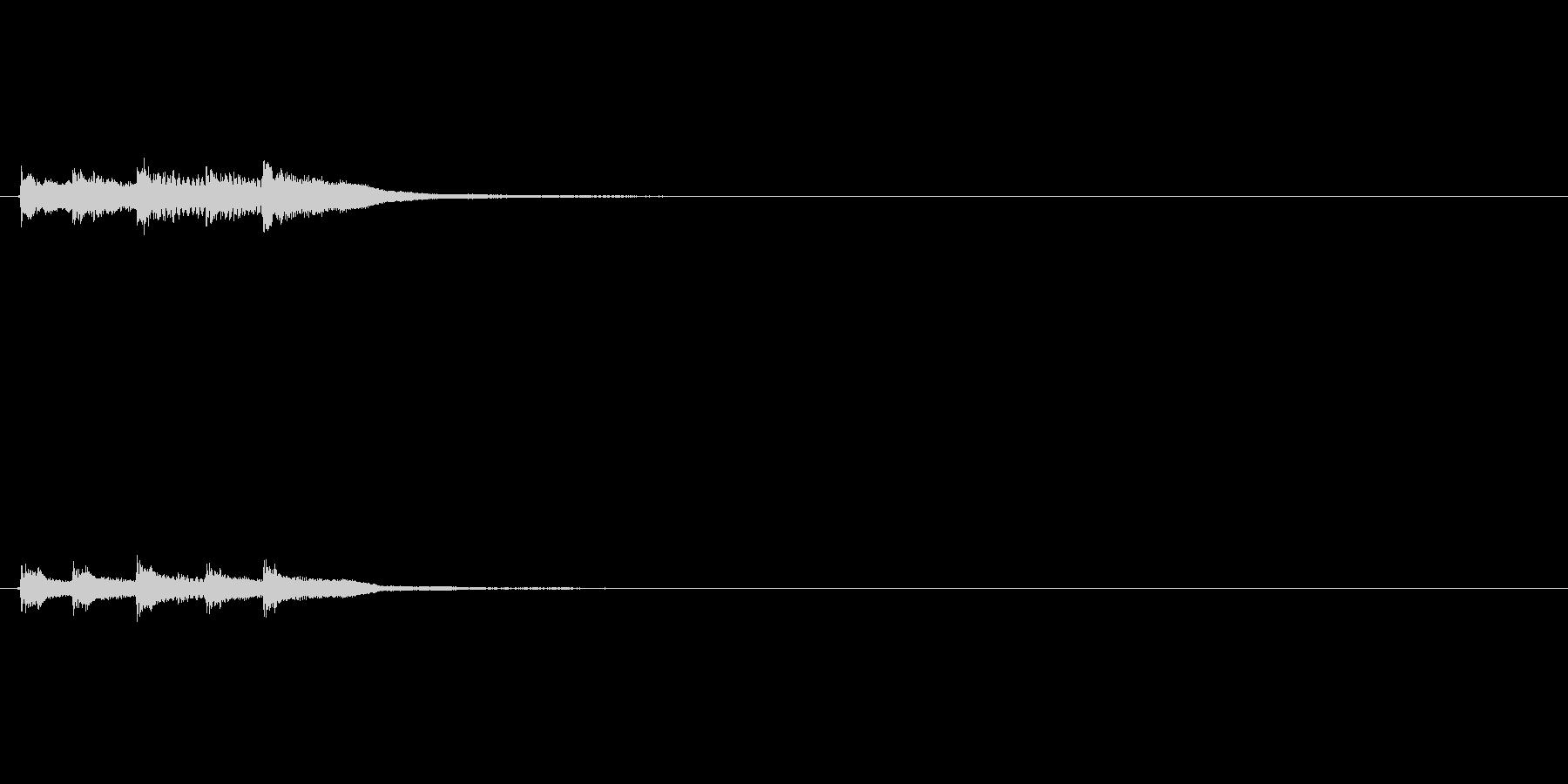ピロリロリン/ハンマーダルシマー綺麗な音の未再生の波形