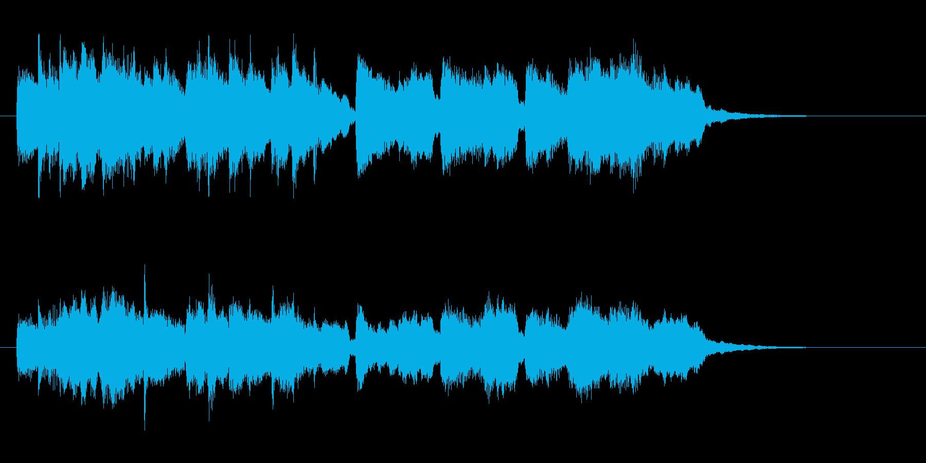 チェンバロとストリングスのアンサンブルの再生済みの波形