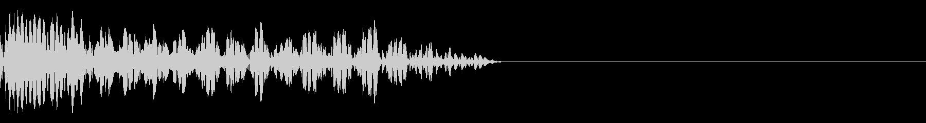 破裂する音の未再生の波形