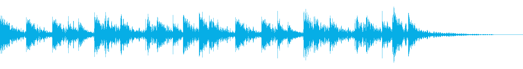 盆踊り、音頭、和太鼓ドンドンドン定番打ちの再生済みの波形