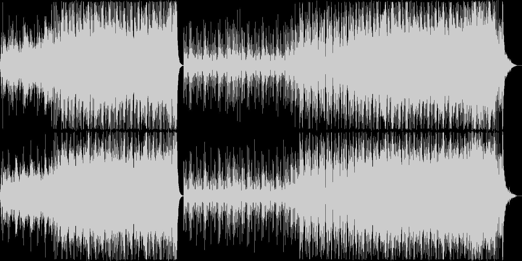 にぎやかでテンポがよい4つ打ち和風曲の未再生の波形
