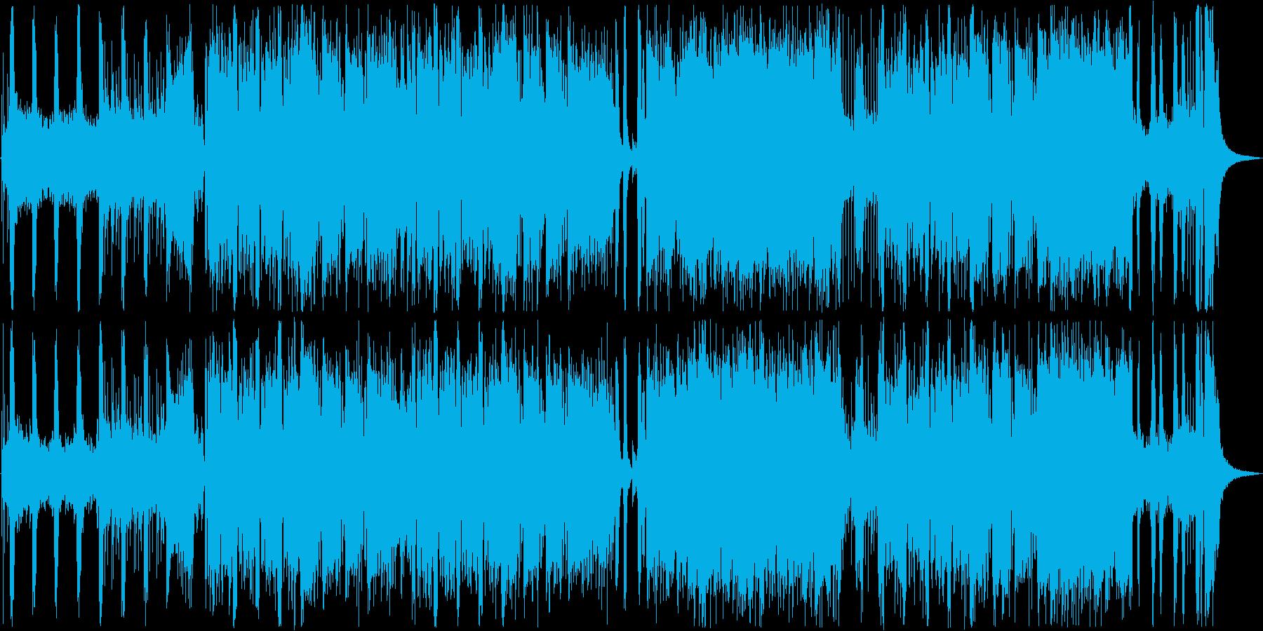 かっこいいオープニング曲の再生済みの波形